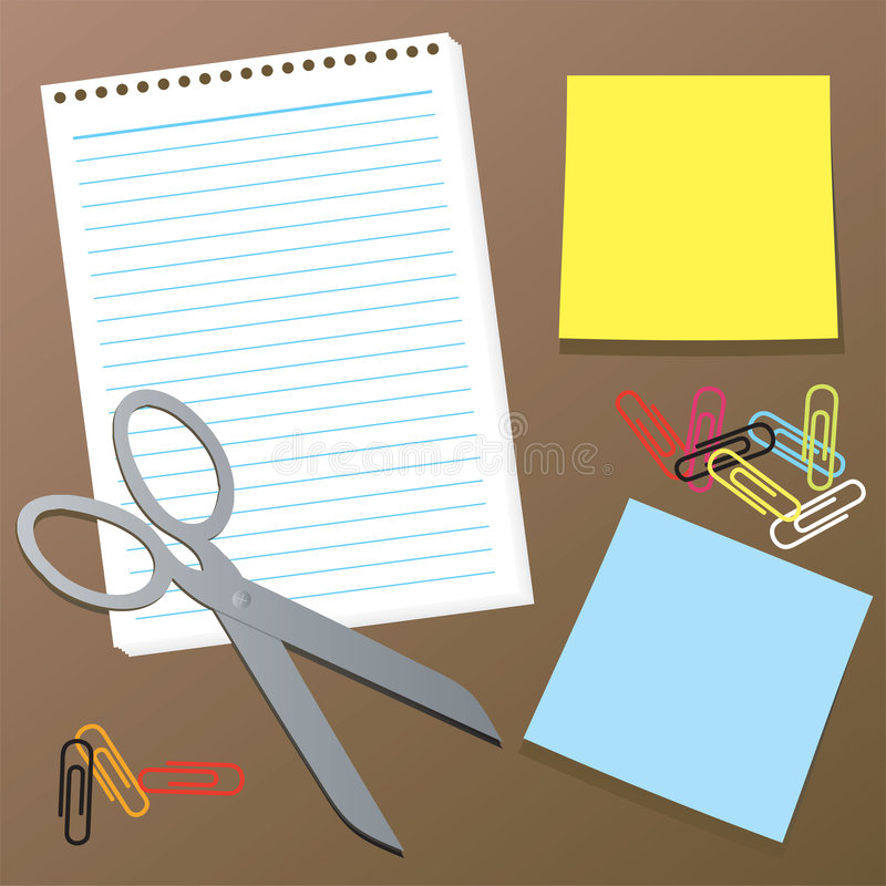 Office collection vector illustration