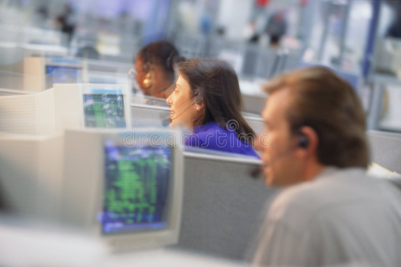 Office communications stock image