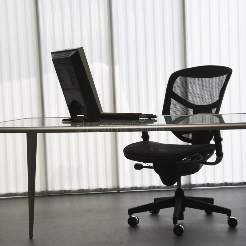 Office with computer. stock image