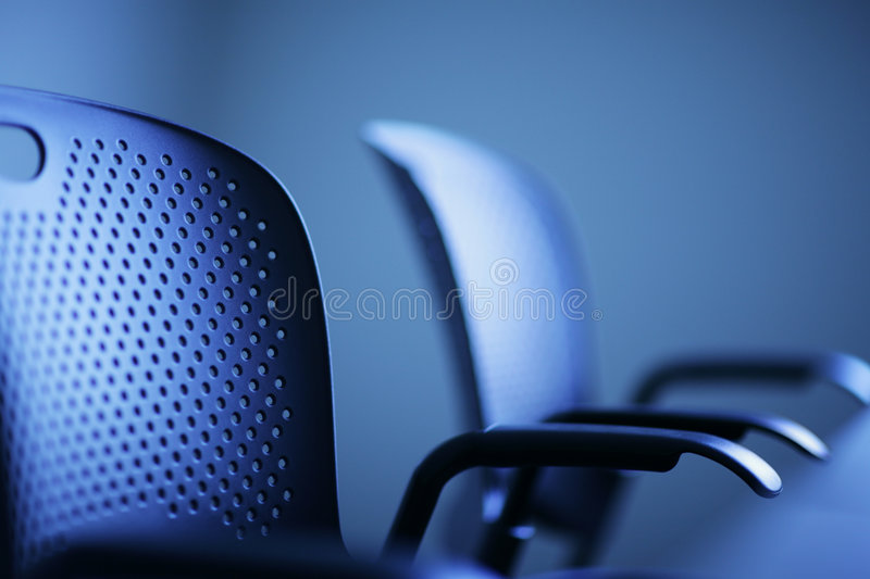 Office concept. Modern office chairs detail, shallow DOF