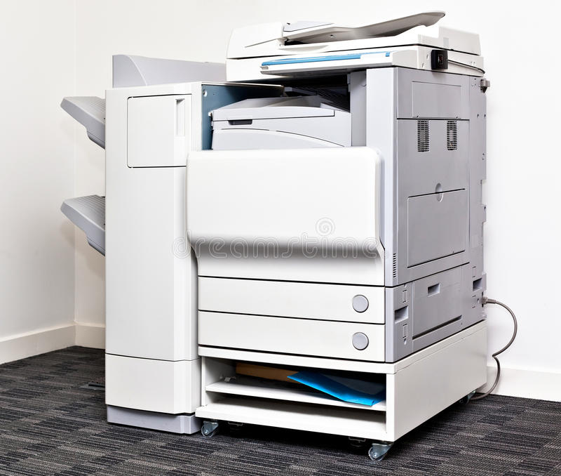 Office copying machine royalty free stock image