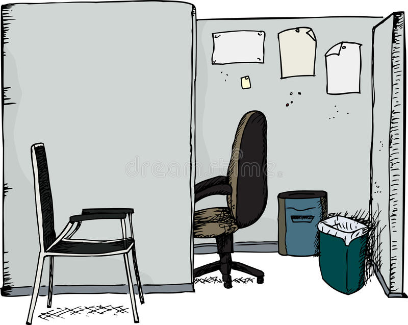 Office Cubicle with Chairs royalty free illustration