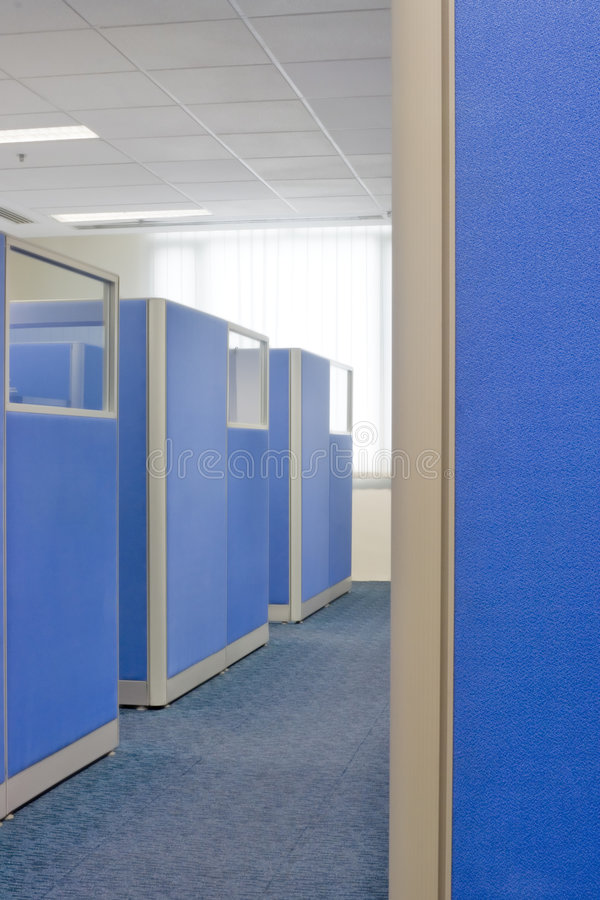 Download Office cubicle partitions stock image. Image of company - 1403507