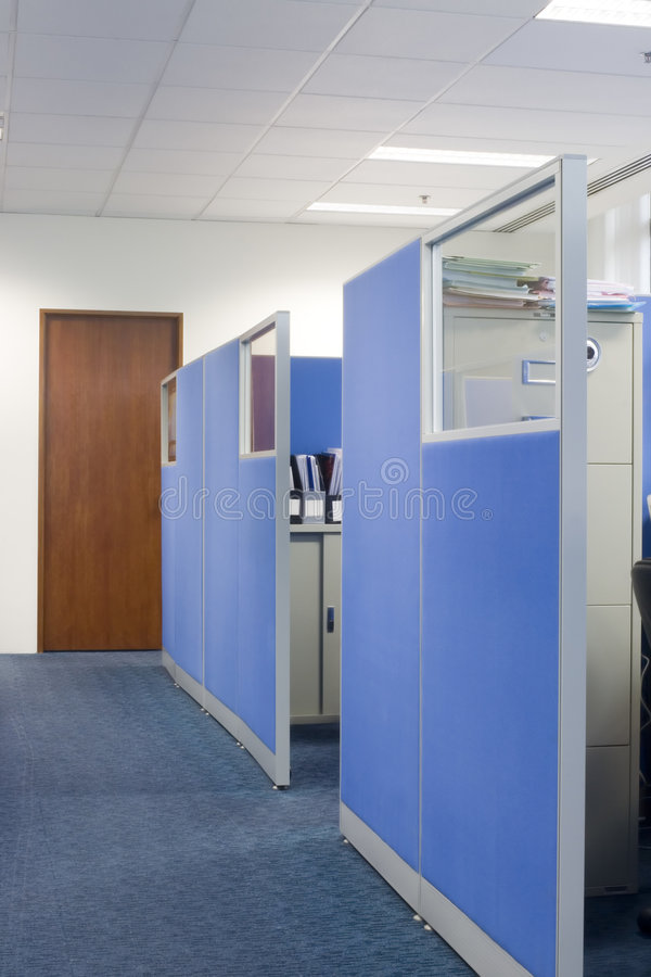 Download Office cubicle partitions stock photo. Image of walkway - 1413512