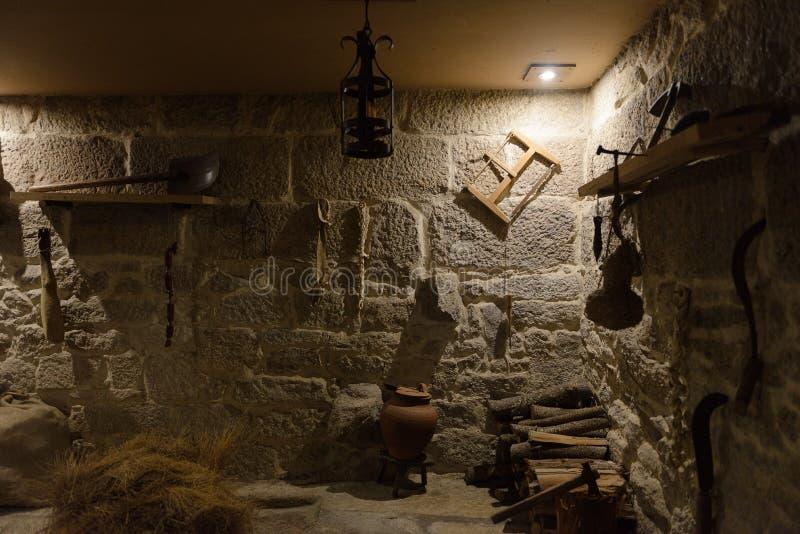 Office dans le vieux château photos stock