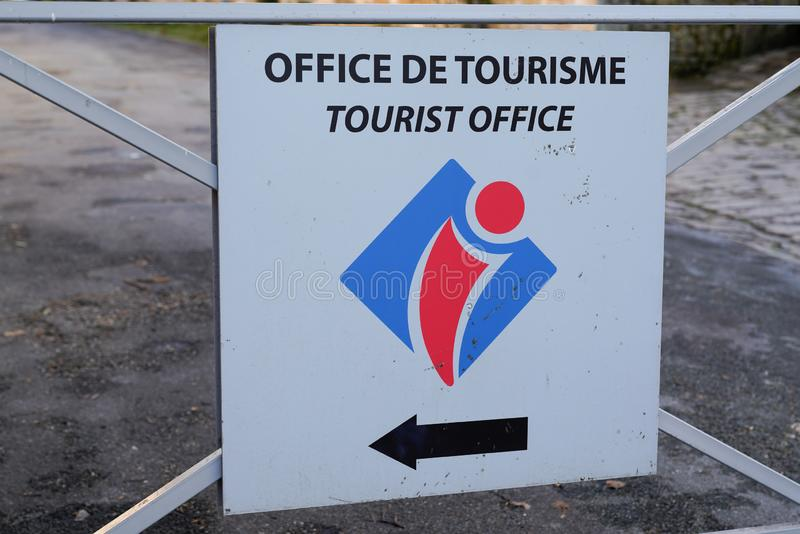 Office de tourisme de france means information center in french country for tourist and tourism activity. The office de tourisme de france means information royalty free stock photos