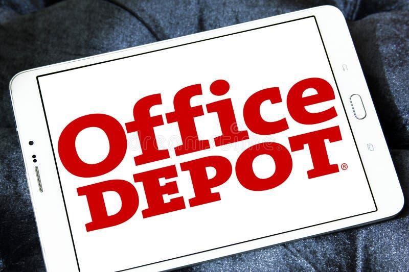 Office Depot återförsäljarelogo royaltyfri bild