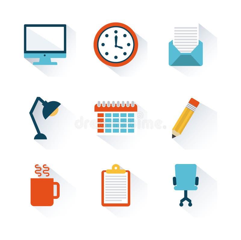 Office design. Over white background vector illustration royalty free illustration