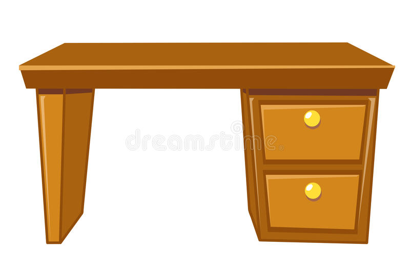 Office desk isolated vector illustration
