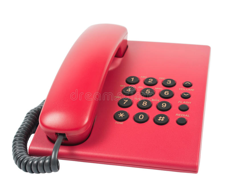 Office desk telephone royalty free stock images
