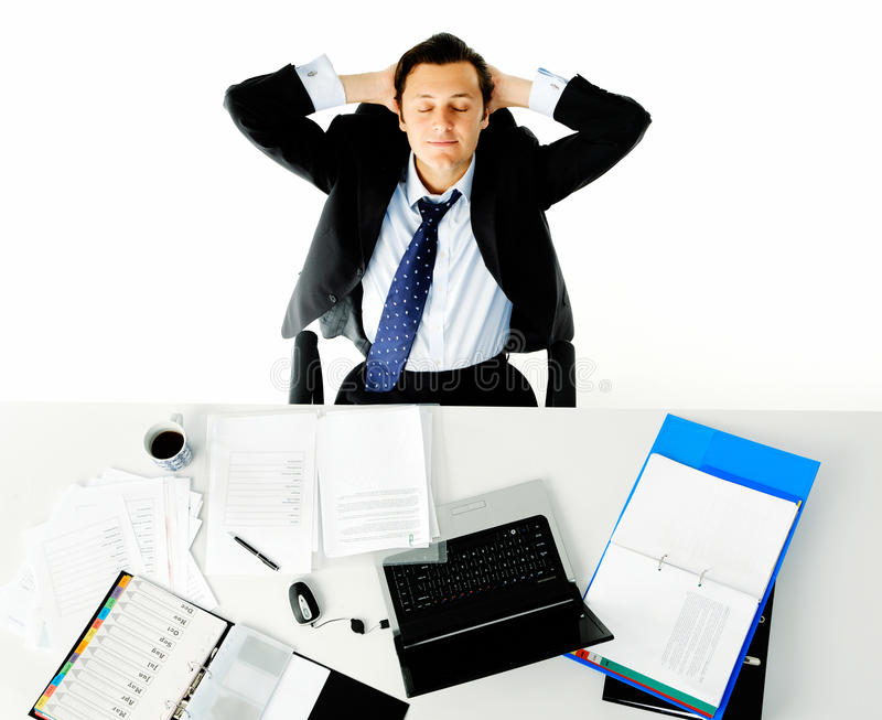 Download Office desk worker stock image. Image of caucasian, documents - 22774517