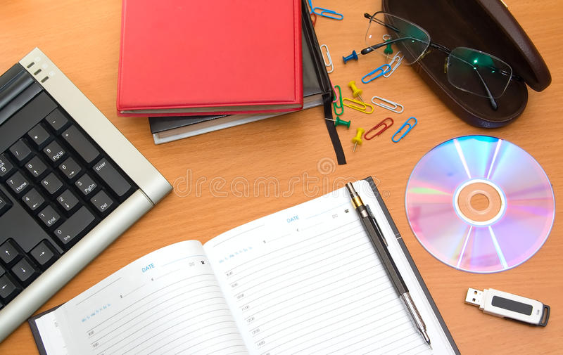 Download Office desktop stock image. Image of disk, drive, glasses - 11357051