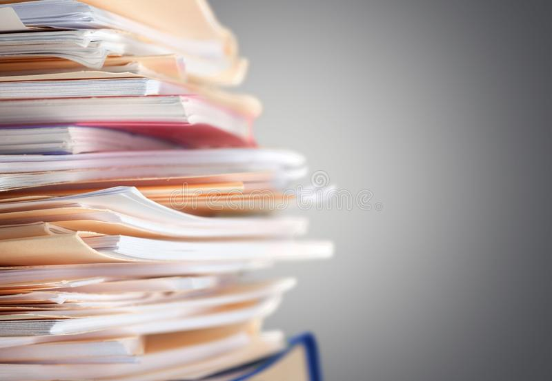 Office. Document Messy Paperwork File Filing Cabinet Stack stock photography