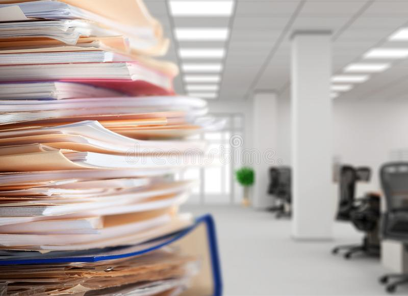 Office. Document messy paperwork file filing cabinet stack royalty free stock photography