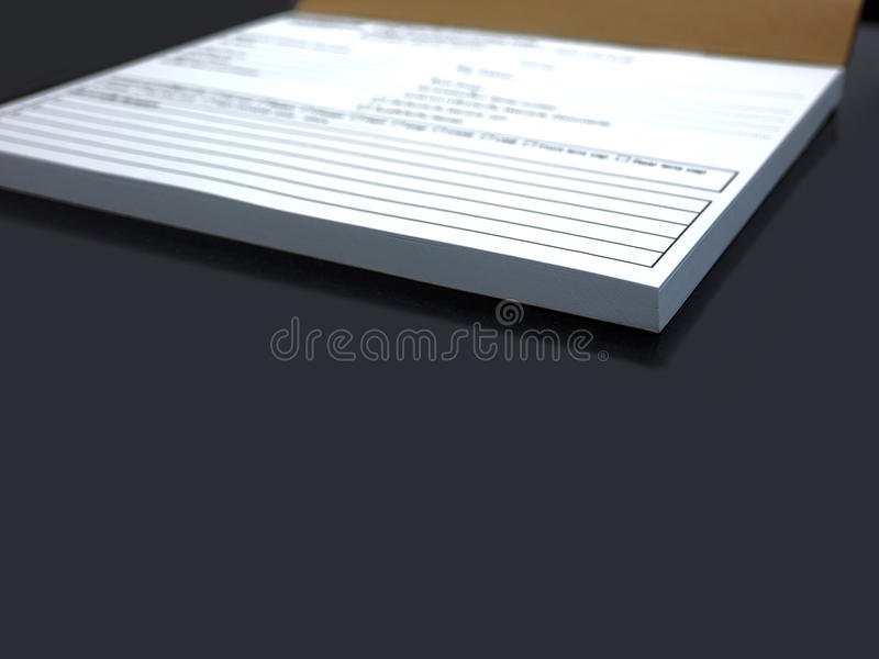 Office Documentation. Open for customer service check the product royalty free stock photography