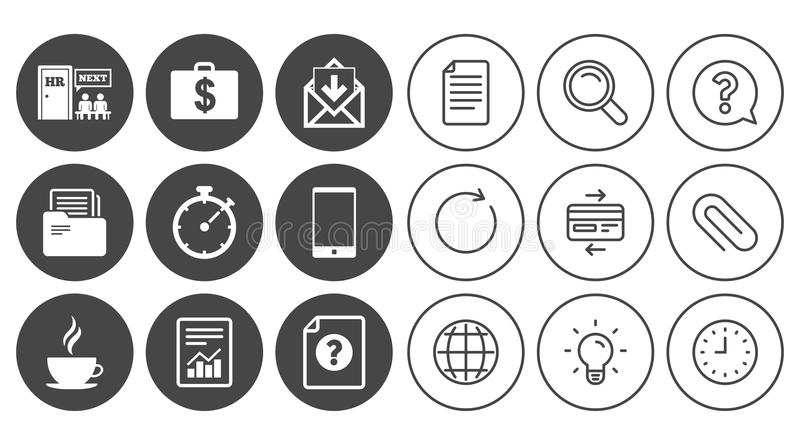 Office Documents And Business Icons Stock Vector Illustration Of