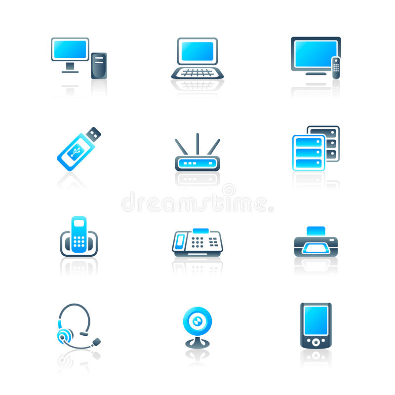 Download Office Electronics Icons | MARINE Series Royalty Free Stock Photo - Image: 17153085