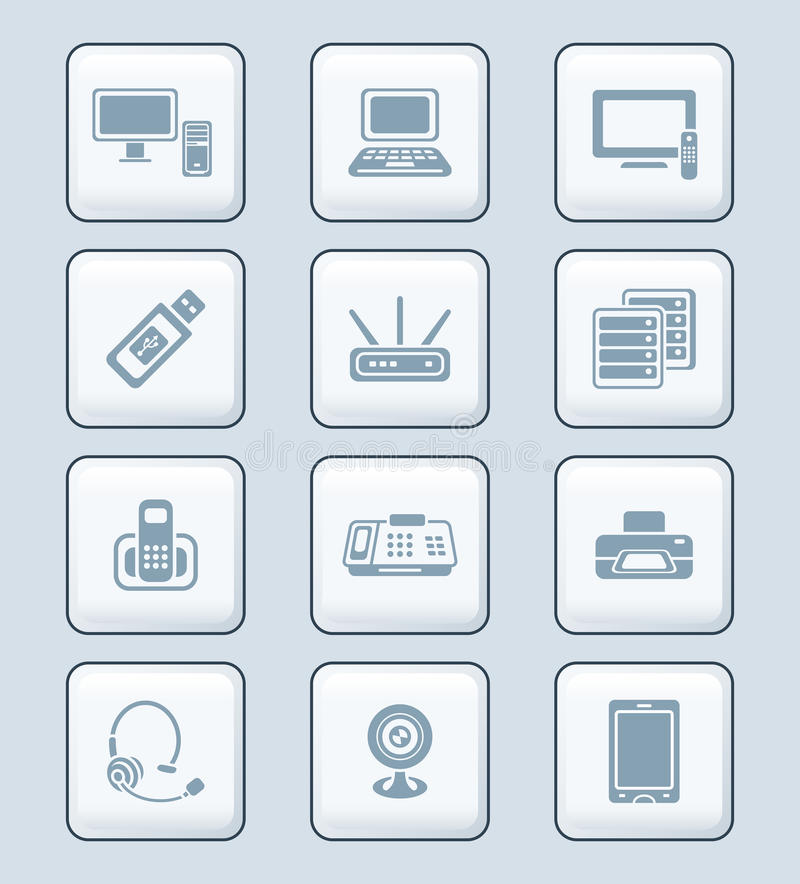 Download Office Electronics Icons | TECH Series Stock Vector - Image: 24846484