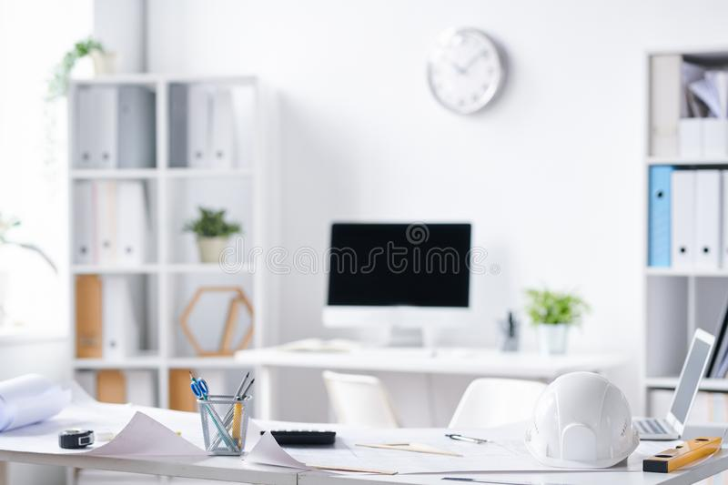 Office of engineers stock image