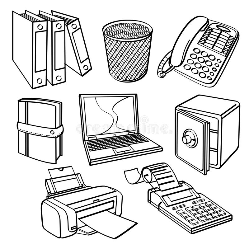 Office equipment Collection royalty free stock photos