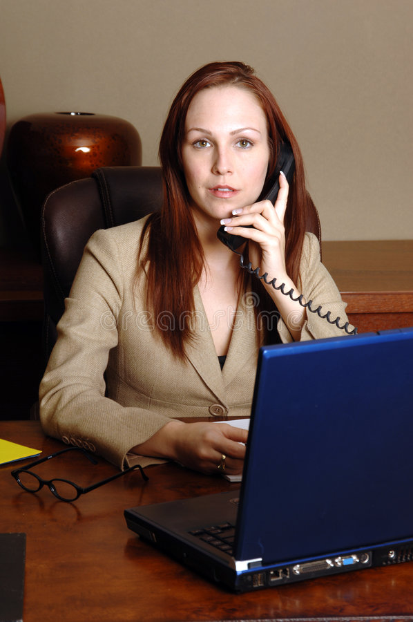 Office Executive On Phone royalty free stock photo