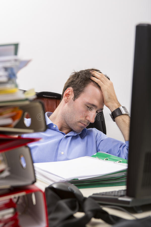 Download Office exhaustion stock image. Image of asleep, exhausted - 25651073