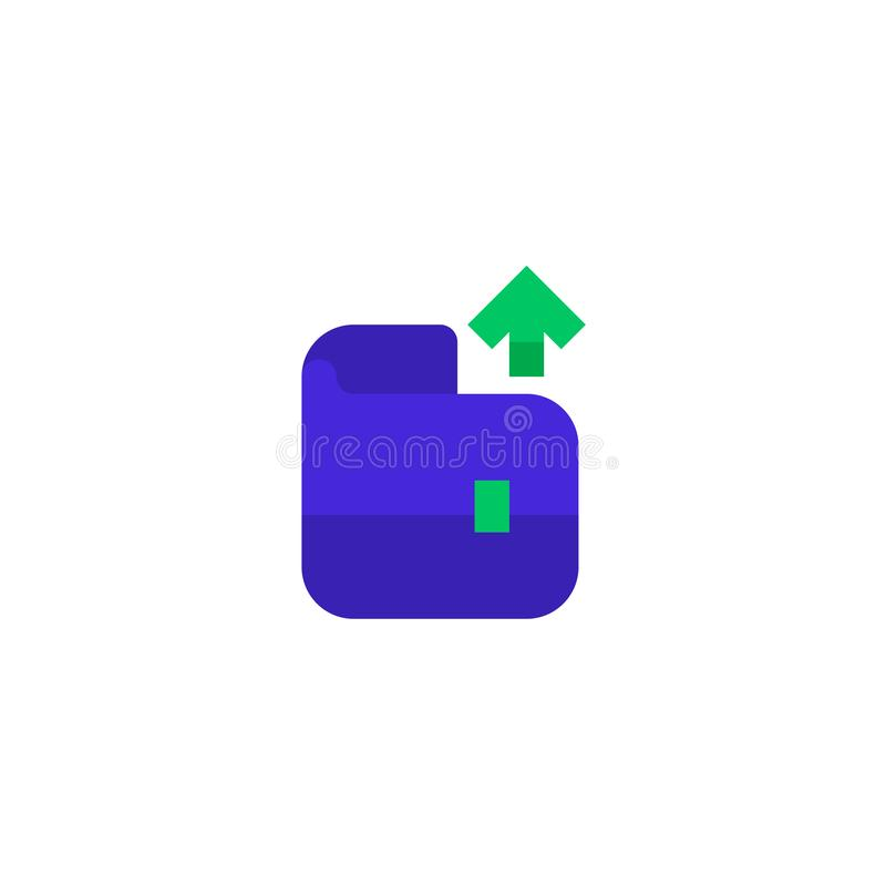 Office expense money out icon design wallet with up arrow symbol. simple clean professional business management concept vector. Illustration design. eps 10 stock illustration