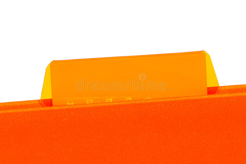 Office File Folder with Empty Blank Tab for Text royalty free stock photography
