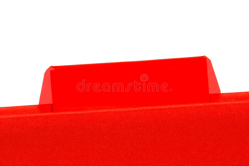 Office File Folder with Empty Blank Tab for Text royalty free stock images
