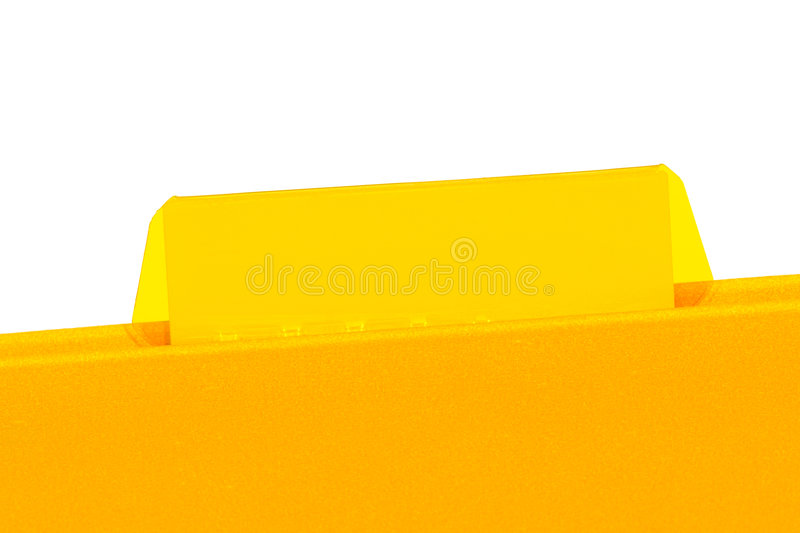 Office File Folder with Empty Blank Tab for Text stock photography