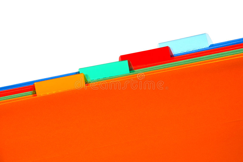 Office File Folders with Empty Blank Tabs for Text royalty free stock images