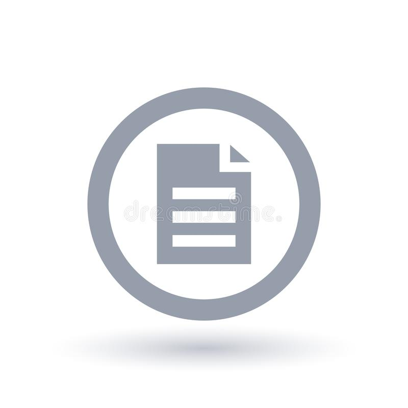 Office file icon. Business document symbol. stock illustration