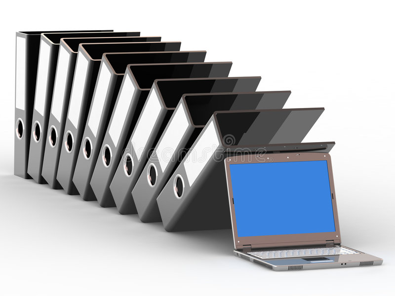 Office files and notebook royalty free stock photos
