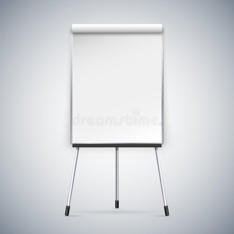 Office Flipchart. Clipping paths included in JPG file vector illustration