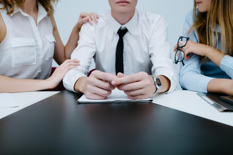 Office flirt love romance seduction. Concept. love affair at work. lifestyle of womanizer stock image