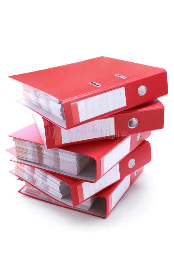 Office folders royalty free stock image