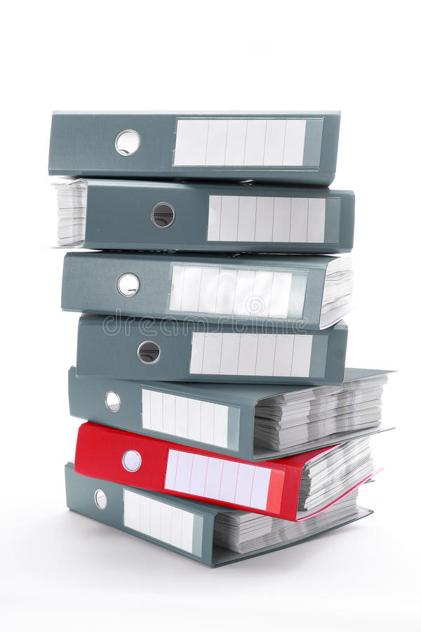 Office folders. Color folders isolated on white background royalty free stock images