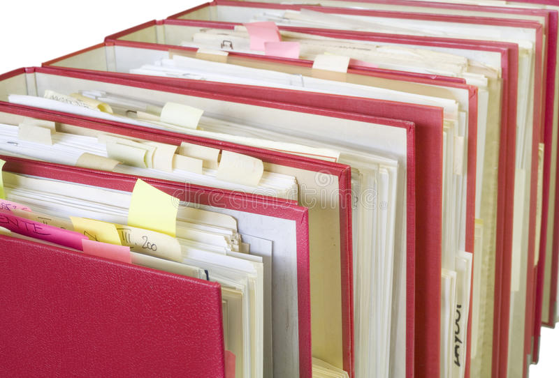 Download Office folders stock image. Image of clip, close, corporate - 24293617