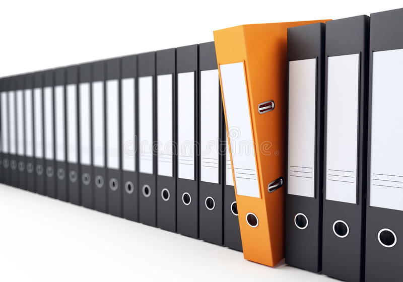 Office Folders Stock Photo