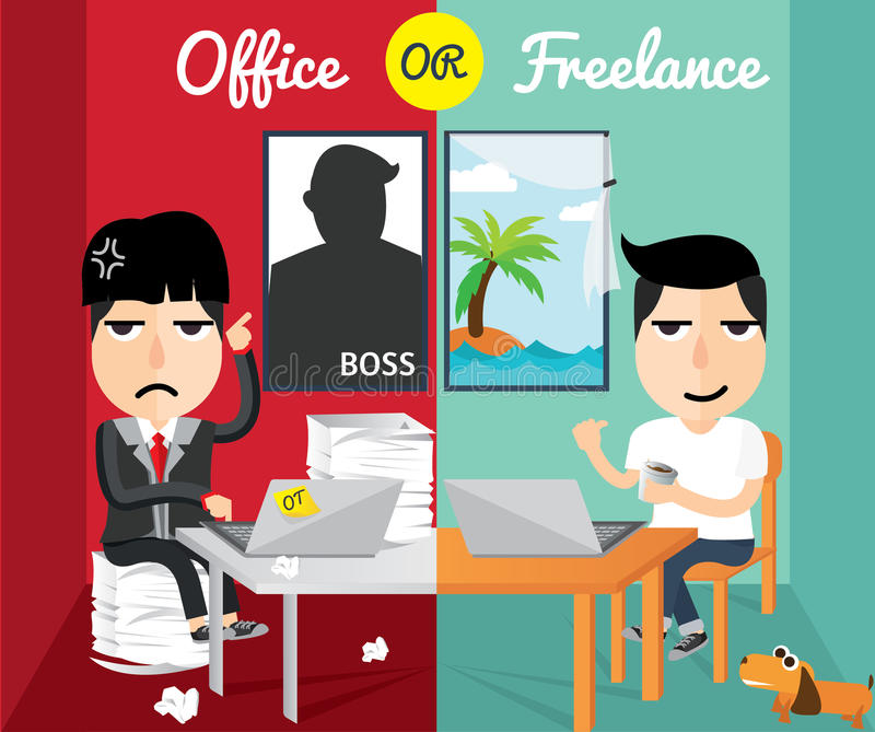 Character Design Freelance Job : Office or freelance flat design character stock