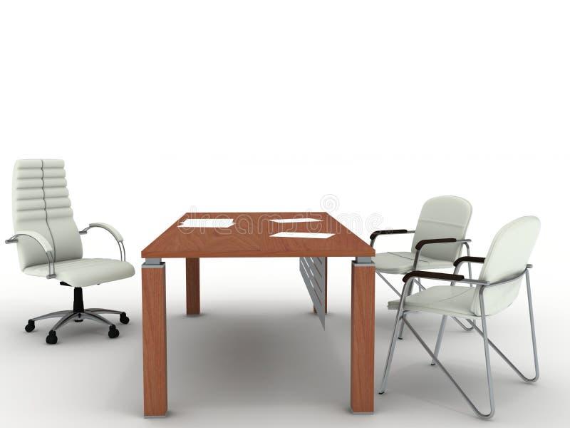 Office furniture vector illustration