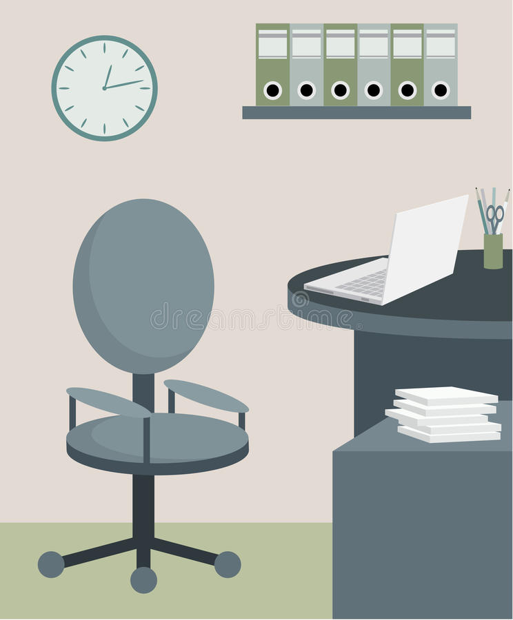 Office furniture. The color full image, no gradient royalty free illustration