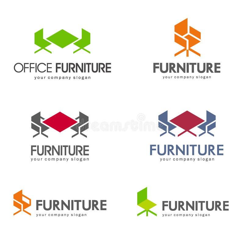 Office furniture logo design concept. stock illustration