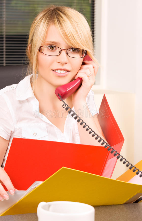 Download Office girl stock image. Image of manager, nice, chat - 41454271