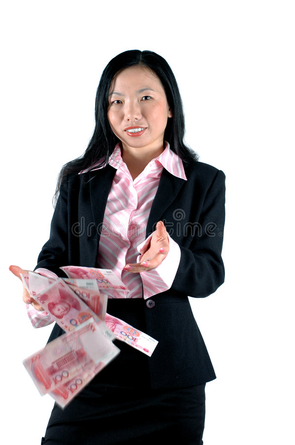 Free Office Girl With Money Royalty Free Stock Photo - 5701405