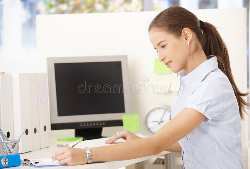 Office Girl Working Stock Image