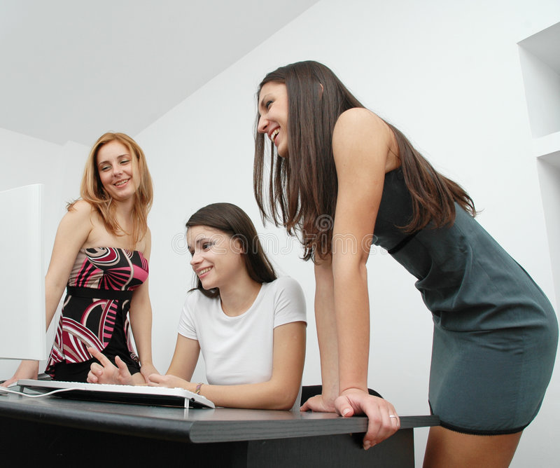 Office girls 2 royalty free stock photography