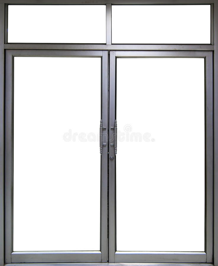 Office Glass door and window with copy space royalty free stock image