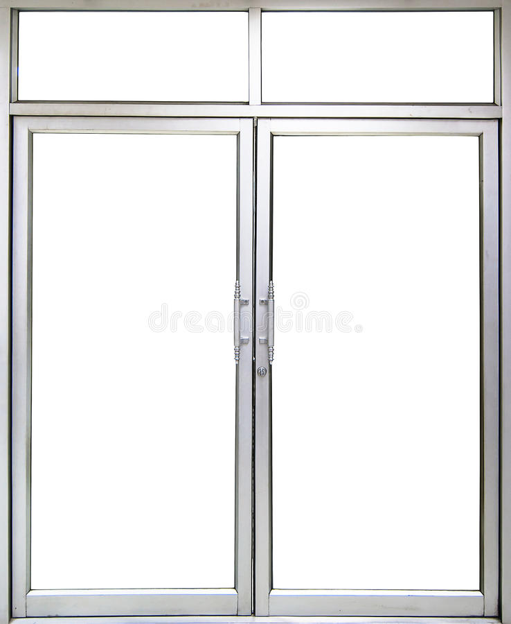 Office Glass door and window with copy space. Into office room stock images
