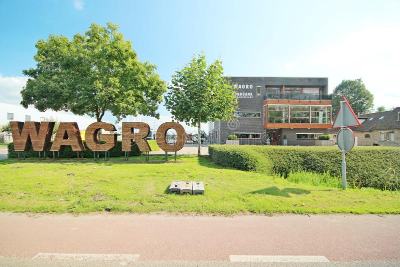 Office and ground storage location of Wagro in Waddinxveen. Which is in the news for plans of biomass power plant stock photo